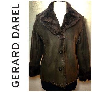 Vintage Gerald Darel Rabbit Fur Ultra Suede Coat